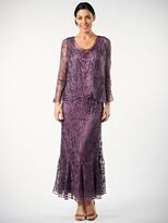 Soulmates C1079 Three Piece Wave Crochet Lace Mother Of Bride Dress
