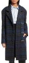 Tibi Women's Dominic Plaid Oversize Coat
