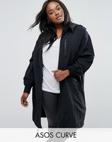Asos Rain Trench in Midi Length