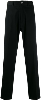 Roberto Cavalli contrast band straight-cut trousers