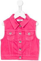 MSGM denim gilet - kids - Cotton/Spandex/Elastane - 4 yrs