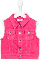 MSGM denim gilet - kids - Cotton/Spandex/Elastane - 4 yrs
