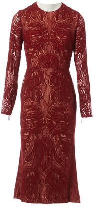 Elie Saab Red Cotton Dresses
