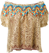 Peter Pilotto embroidered lace bardot top - women - Silk/Polyamide/Polyester - 10