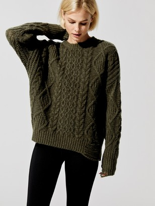 NSF Anabelle Cable Knit Sweater