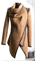 Cibeat Women's Warm Wool Slim Long Trench Parka Peacoat Outwear Overcoat Coat Jacket Color: Size (Women's):S
