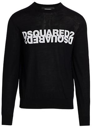 DSQUARED2 Logo Intarsia Knit Pullover