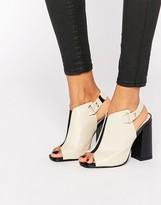 Daisy Street Peep Toe Mule Slingback Heeled Sandals