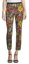 Etro Cropped Floral-Print Pants