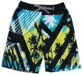 Big Chill Boys 4-7 Stripe Palm Tree Swim Trunks