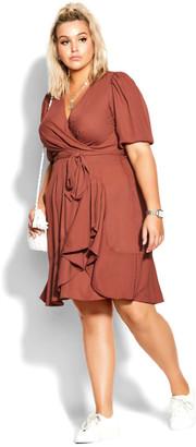 City Chic Captivate Dress - cinnamon