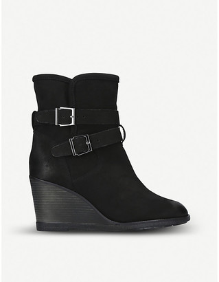 Kurt Geiger Rhona shearling-lined leather wedge boots