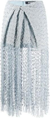 Jacquemus Woven Fringed Skirt