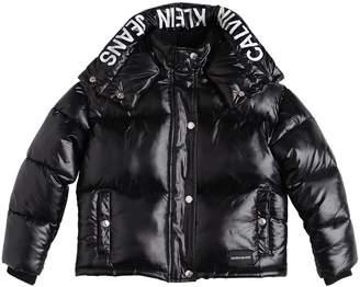 Calvin Klein Jeans LOGO PRINT NYLON PUFFER JACKET