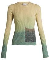 Acne Studios Rasha ribbed-knit dégradé sweater
