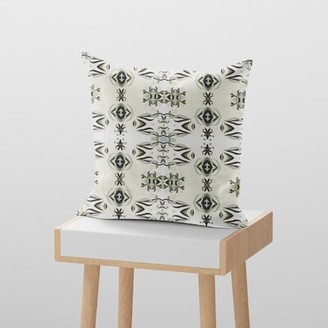 Valenza Gradient Lily Decorative Throw Pillow World Menagerie Cover Material: Suede, Color: White/Light Green