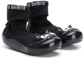 Mini Melissa Cat Sock Ankle Boots