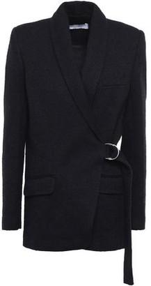 IRO Azzow Buckled Cotton-blend Boucle-tweed Blazer