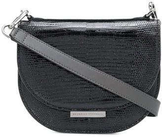 Brunello Cucinelli Snake Print Crossbody Bag