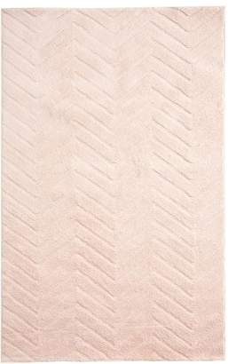 Pottery Barn Teen Plush Performance Chevron Rug, 3'x5', Blush