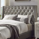 HomeVance Violette Crystal Tufted Wingback Headboard