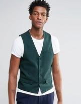 Asos Vest In Green Check