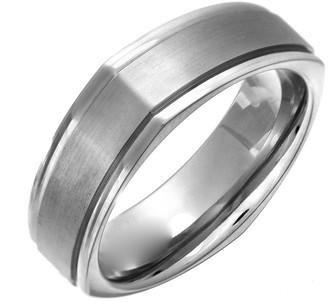 Theia Titanium Flat Court Squared 7mm Ring - Size M