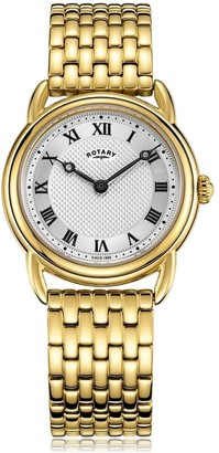 Rotary Watches Gold Canterbury Ladies Quartz Watch
