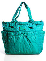 Marc by Marc Jacobs Jade Green Nylon Monogram Tote Handbag