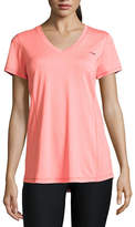 COPPER FIT Copper Fit Short Sleeve V Neck T-Shirt-Womens
