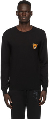 Moschino Black Teddy Crewneck Sweater