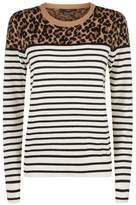 SET Leopard Stripe Sweater