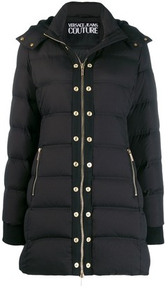 Versace Jeans Couture Zipped Padded Coat