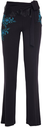La Perla Embroidered Stretch-modal Jersey Pajama Pants