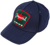 DSQUARED2 logo patch baseball cap - men - Cotton - One Size