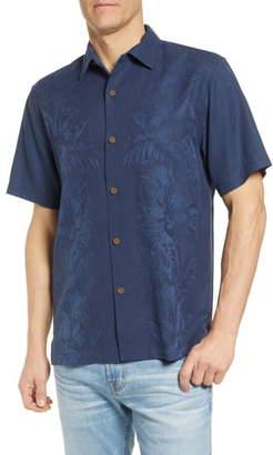 Tommy Bahama Kamari Border Classic Fit Silk Camp Shirt