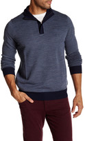 Toscano Birdseye Quarter Zip Mock Neck Sweater
