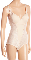 Joan Vass Nude Lace Hidden Underwire Bodysuit - Plus Too