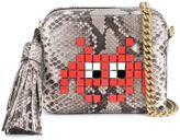 Anya Hindmarch Space Invaders crossbody bag - women - Leather/Python Skin/metal - One Size