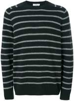 Closed striped knit jumper