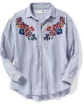 Old Navy Patterned Boyfriend Tunic Shirt for Girls