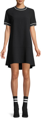 Rag & Bone Crewneck Short-Sleeve Crepe Dress