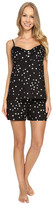 BedHead Button Front Camisole Short Set with Metallic Foil