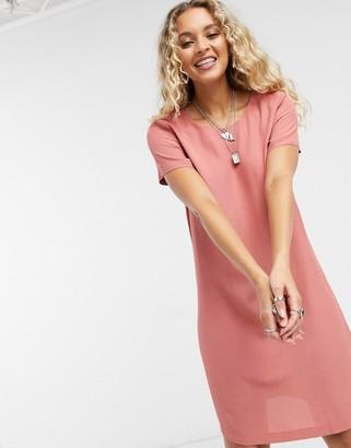 Vila shift dress in pink