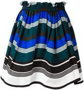Fendi Waves skirt - women - Cotton/Silk - 44