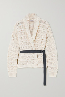 Brunello Cucinelli Belted Cotton Cardigan