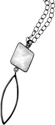 ADORNIA Silver 3.00 Ct. Tw. Moonstone Drop Necklace