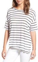 Cupcakes And Cashmere Women's Liberty Stripe Linen Tee