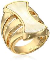 "Robert Lee Morris Neutral Territory"" Sculptural Horn Multi-Row Ring, Size 8.5"
