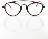L.G.R Brown Tortoise Clear Lenses Havana Maculato Song Eyeglasses IN CASE